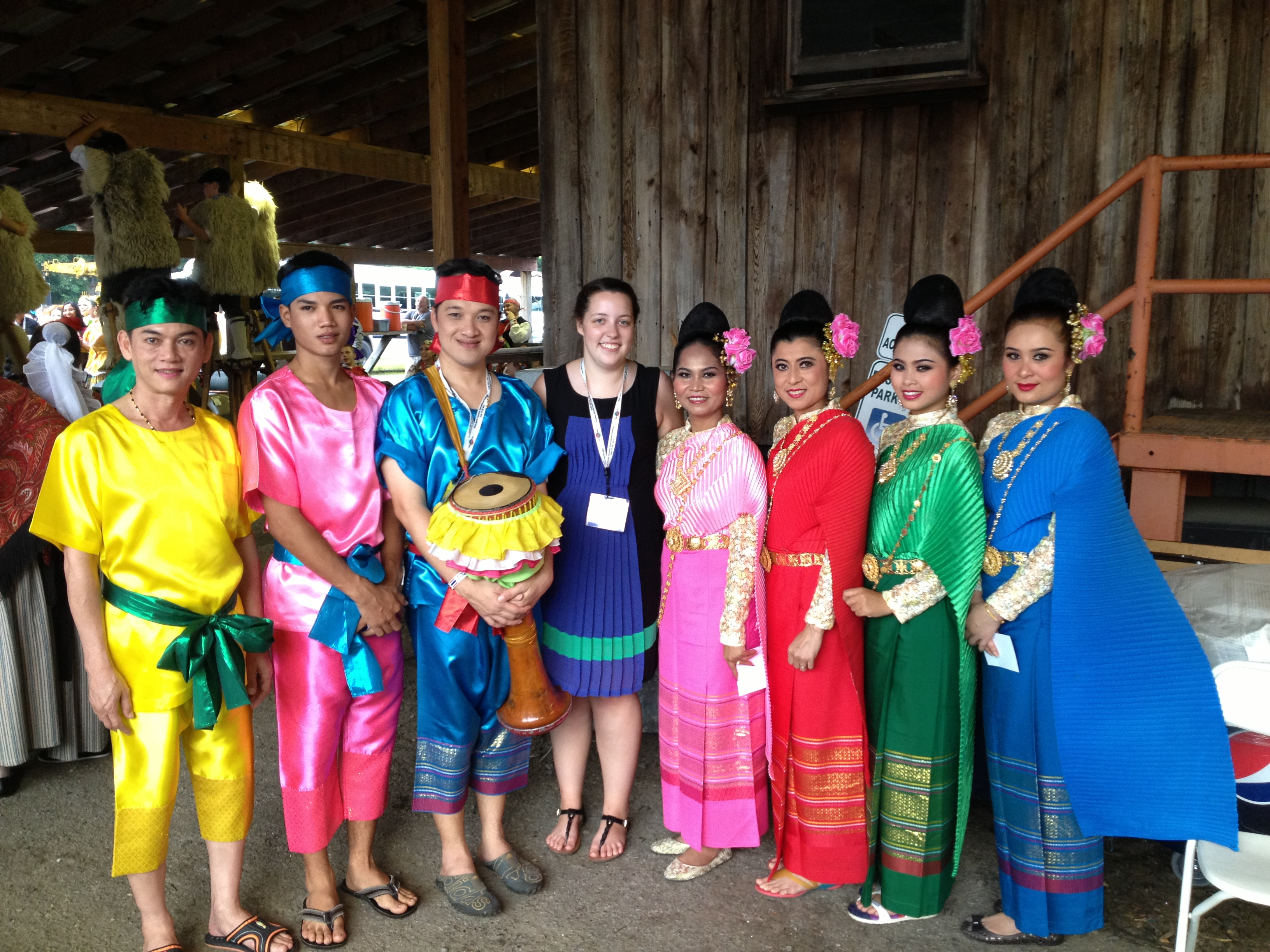 Elizabeth Burson, Folkmoot Programmer with Thai Dance Group