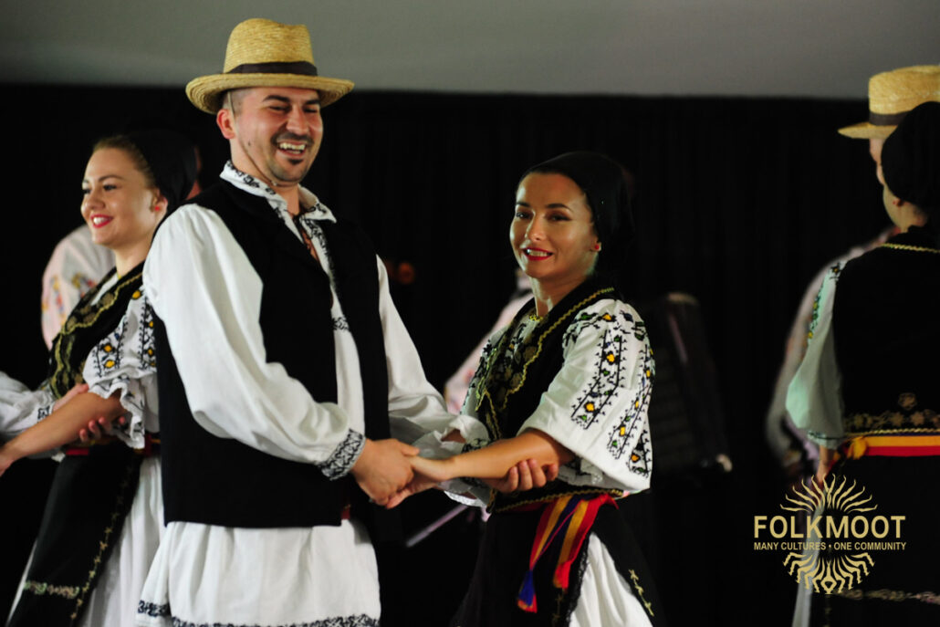 Dancers from Romania's Martisorul entertain at the Folkmoot Gala Under the Stars, 2019