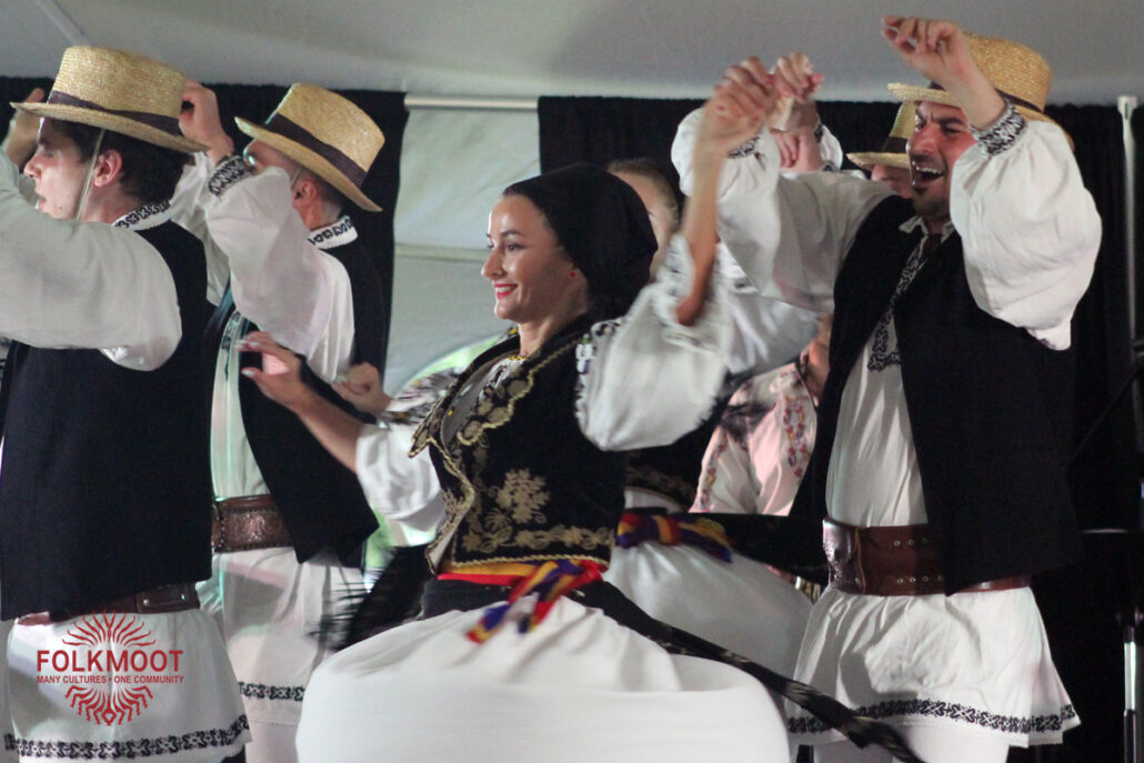 Dancers from Romania entertain at the Folkmoot Gala Under the Stars, 2019.