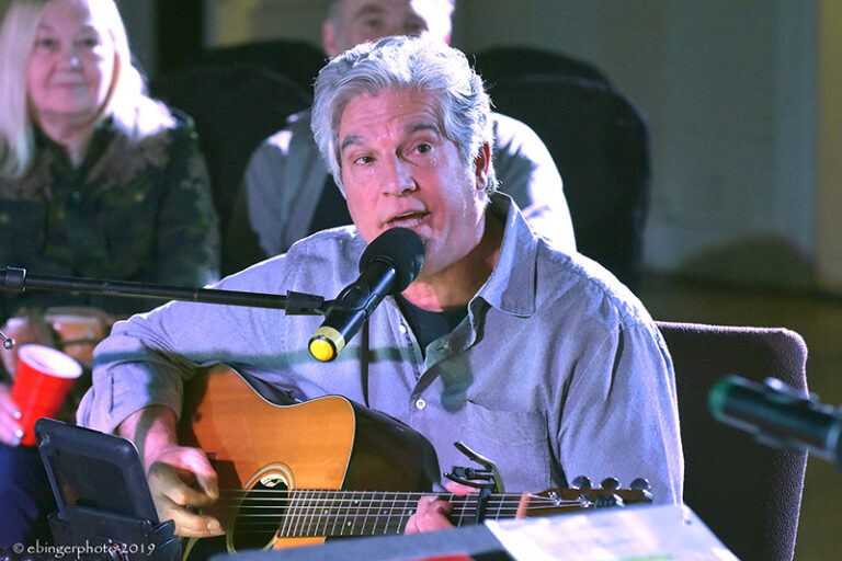 Jerry Salley at Great Balsam Songwriters in the Round. Folkmoot. Wayne Ebinger photo.