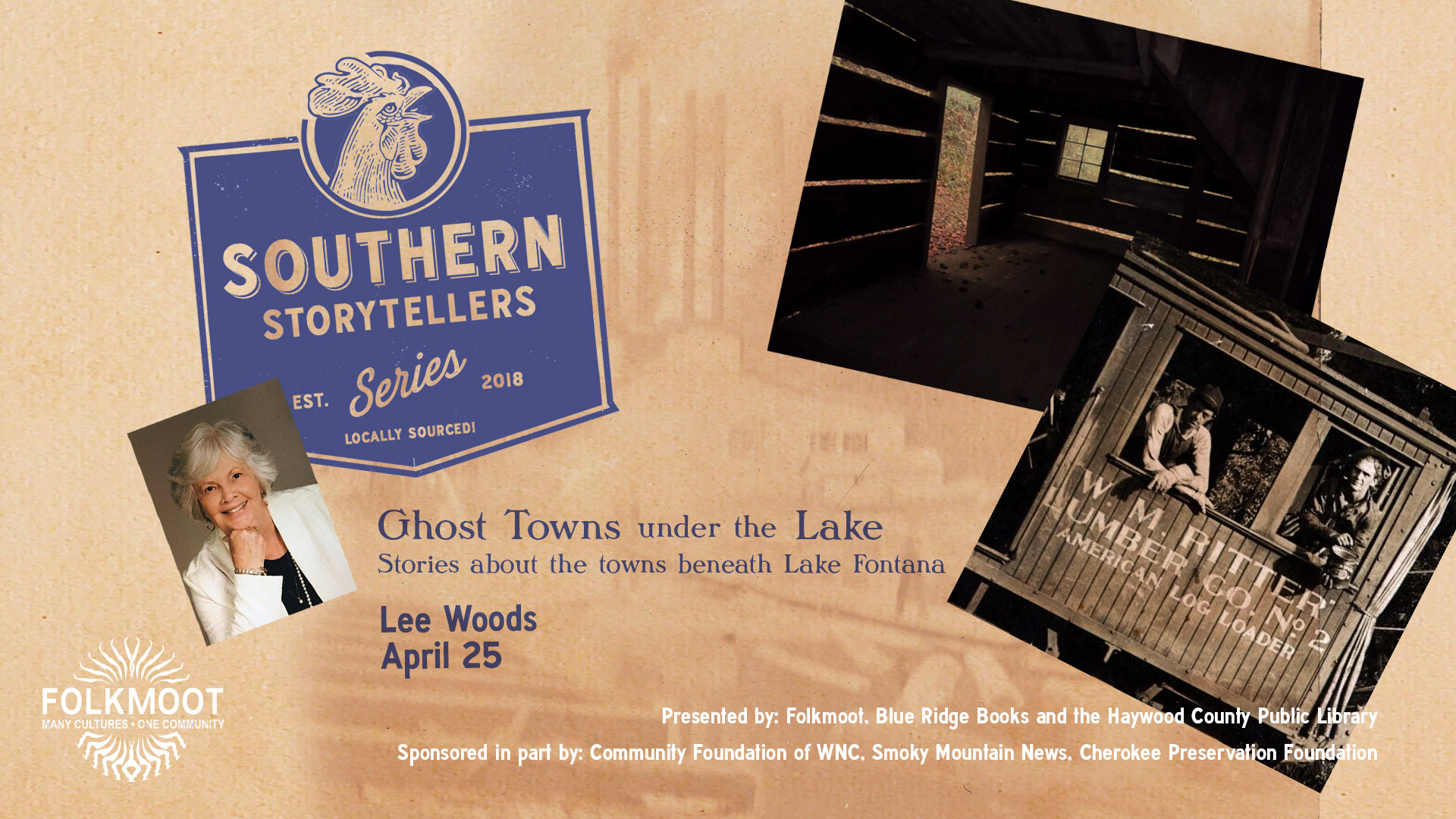 Southern Storytellers Series: Lee Woods @ Folkmoot Friendship Center